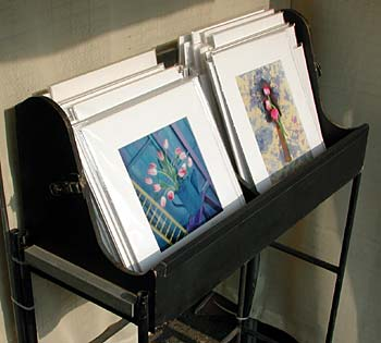 Photographs displayed in clear bags from Impact Images