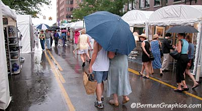 2002 Ann Arbor art fair in the rain